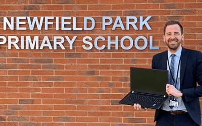 Laptop Donation to Newfield Park Primary School in Halesowen